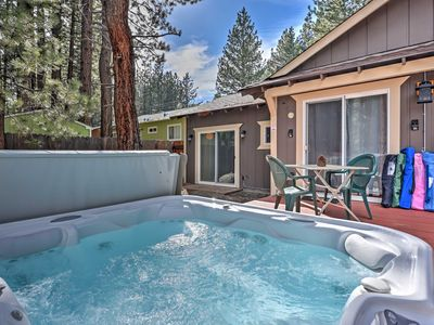 Photo for South Lake Tahoe Cabin w/ Hot Tub - Walk to Lake!