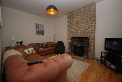 Feature fire place in living room
