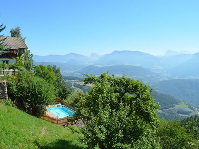 Photo for Chalet Villa Stefania overlooking the Dolomites, private pool and garden