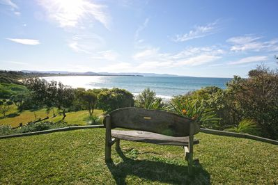 Stunning views ,our own direct, private beach access,lovely coastal garden
