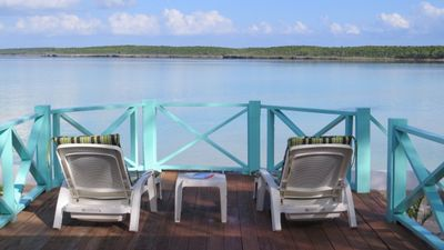 Calm and tranquil Ten Bay.  This is your view from the back sun deck.