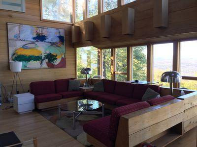 Photo for Architecturally stunning ski in /ski out home with spectacular views sleeps 14