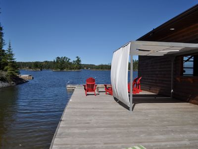 Photo for Waterfront cabin with gazebo - Lake of the Woods area
