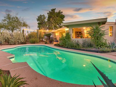 Photo for Dog-friendly home w/ private pool, outdoor entertaining, near Chaparral Park!