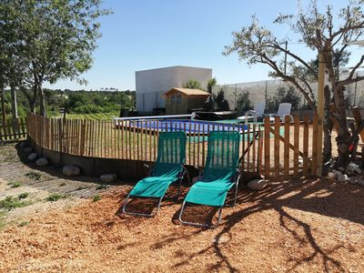Photo for Charming apartment with pool near Anduze for 4 people