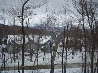 Photo for Immaculate Jay Peak 2bed/2bath Ski-in/Ski-Out Slope Side - Inches from trail