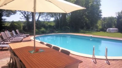 Photo for Farmhouse in La Drutiere with Heated Pool set In beautiful rural Landscape