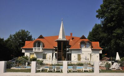 Photo for Family friendly apartments with pool, not far from Lake Balaton