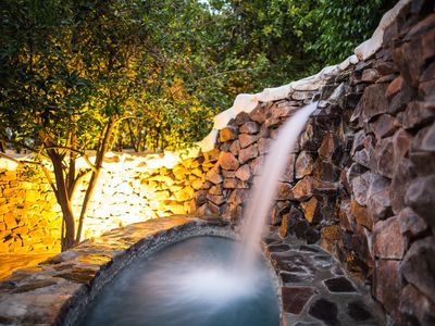 Photo for Private Waterfall Jacuzzi | Heated Saltwater Pool