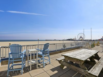 Photo for Relax on Your Private Deck on the OC Boardwalk - Pool, Gym & Sauna!