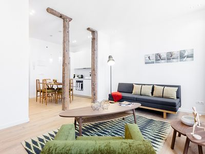 Photo for This modern and cozy one-bedroom apartment