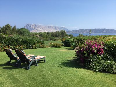 Photo for Lovely Villa with great view of the marine park of Tavolara and Molara Islands.