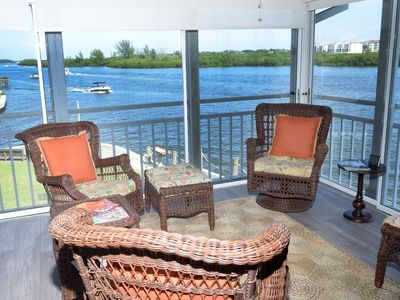 Photo for Panoramic Intracoastal Views of Boats, Dolphins & Manatee. Deeded Beach Access!