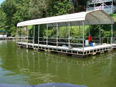 Large dock for swimming or boating!