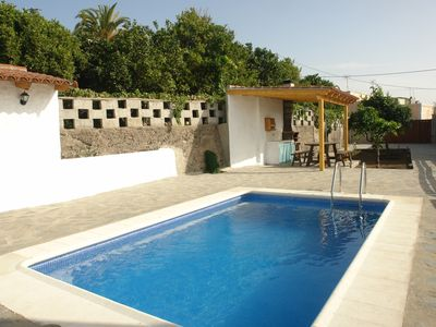 Photo for House with private pool in Granadilla, family friendly pets allowed