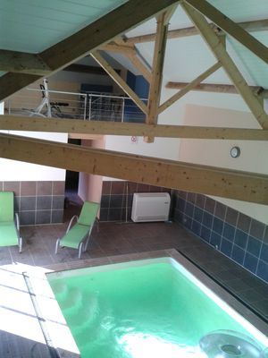 Photo for LODGING WITH HEATED INDOOR SWIMMING POOL, SPORTS ROOM, IN A FOREST