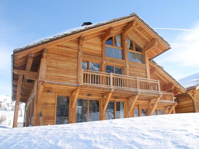 Photo for Chalet of character, ski slopes, sleeps 8.