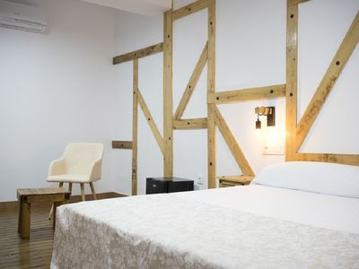 Photo for Stately house S. XIX in Monfragüe double bed room nº 6