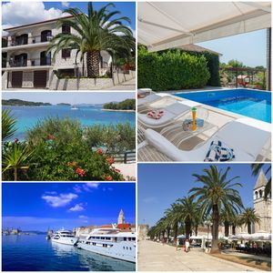 Photo for **** Luxury villa, Trogir - Ciovo, directly on the sea with pool for 12 people (+ 2 children)