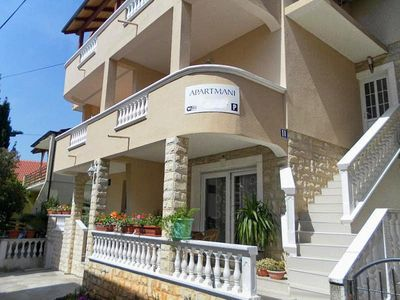 Photo for Two bedroom apartment with balcony and sea view Vodice (A-12552-a)