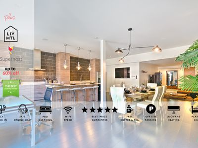 Photo for Liv MTL  Plateau  Up to 60% OFF  Penthouse 2BR + Rooftop Terrace + Ideal Big Family