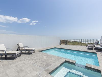 Oceanfront House w/ Private Pool, Hot Tub, Private Beach Boardwalk! Sleeps 14!