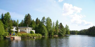 Photo for Holiday home,fantastic view of the lake,own boat and a small private footbridge