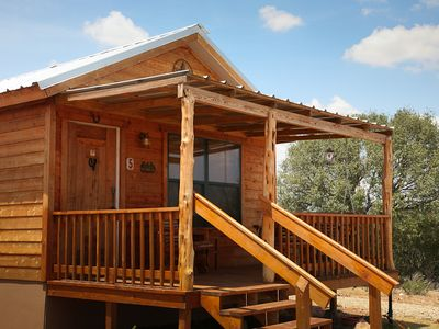 Photo for Absolutely Charming Rockview Cabin 5, Spectacular Views of Enchanted Rock!