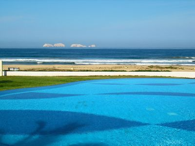 Photo for Beautiful beachfront home, infinity pool on spectacular Pacific Ocean bay.