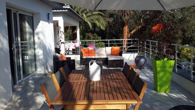 Photo for T3Villa 2016 in the heart of the mountain, located in a wood and 15 minutes from the beaches