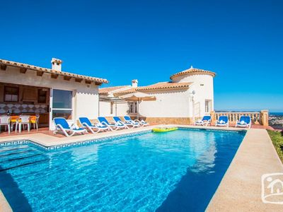 Photo for Saona Villas: villa with private pool, panoramic views of the Bay of Calpe!