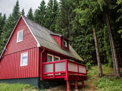 Photo for Cottage in a quiet forest location - ideal for winter sports, with its own sledding hill.
