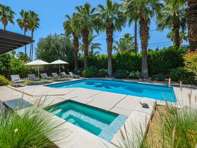 Photo for Private, Mid-Century Compound in Famous Movie Colony with Saltwater Pool!