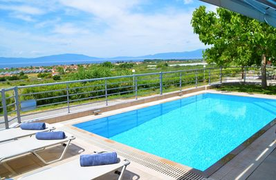 Photo for Exclusive villa with private pool and panoramic sea view