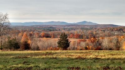 The view from the house in the colorful Fall.