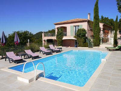 Photo for RE-OPENING IN SUMMER. SPECIAL PRICES ! Luxury Villa with pool and view.