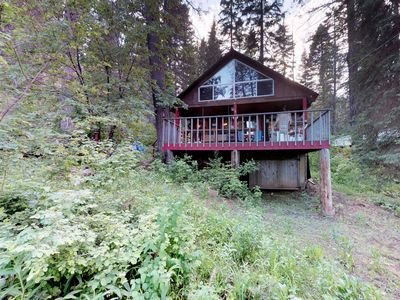 Photo for NEW LISTING! Dog-friendly cabin w/peaceful lake views, great outdoor space