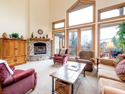 Photo for 4BR w/ Covered Parking, Hot Tub, Pool & Tennis - Near Slopes & Shuttle