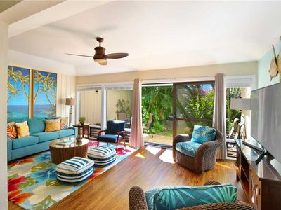Photo for Poipu Ground Floor New Remodel A/C in the Bedroom*Manualoha 502*