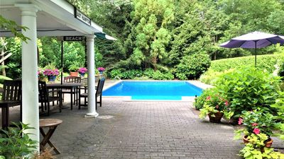 Photo for New Listing: Secluded Shingle House, Resort-Inspired Getaway w/ 2.5 Acres of Outdoor Family Fun