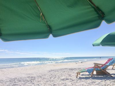 In-season beach set up daily includes 2 chairs/1umbrella