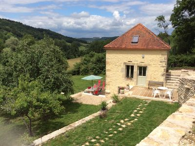 Photo for Charmingly restored cottage in medieval village of Flavigny sur Ozerain