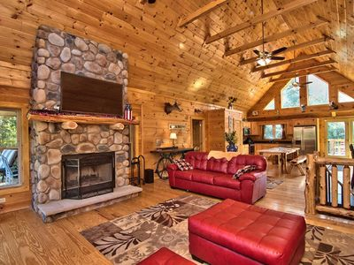 Photo for New! 6Bd 3BA 3200sf Cabin Bar Pool/Poker Table TVs Fire Pit ski paintball casino