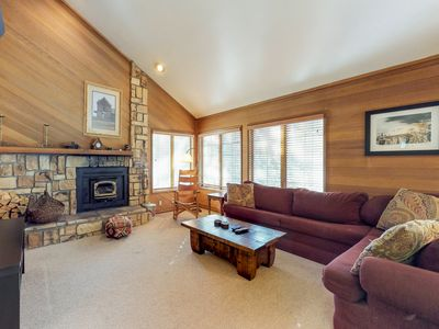 Photo for Lofty condo w/ wood stove & shared pool/hot tub - 500 ft to Canyon Lodge lifts!