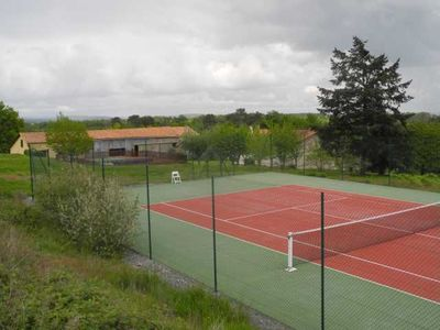 Our tennis court is popular with guests