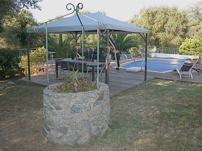 Photo for comfortable villa in the heart of a garden with olive trees.