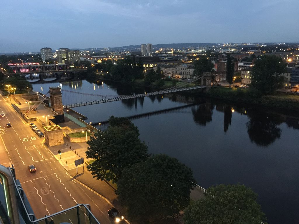 Superb penthouse Glasgow City Centre. Exceptional views on the River Clyde.
