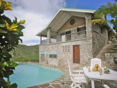 Photo for The Stone House, Marigot Bay- Character, Comfort, Private Pool, Wonderful View