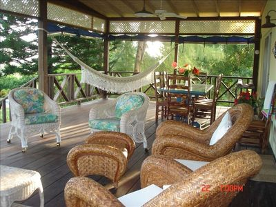 Our outdoor living room-