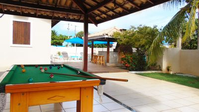 Photo for Casa Gostosa 4 bedrooms 300m from the beach with pool table and pool